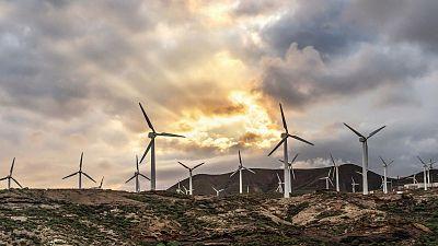 Turbines generating green energy