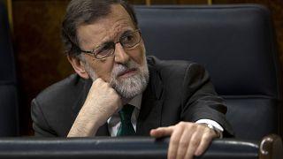 Mariano Rajoy durante la moción de censura para su destitución el 31 de mayo de 2018