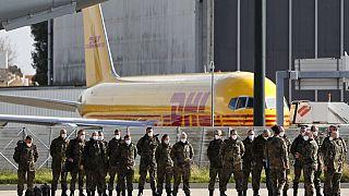 Medizinisches Team der Bundeswehr als Corona-Nothilfe in Lissabon