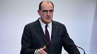 Le Premier ministre français, lors d'une conférence de presse sur la Covid-19, le 4 février 2021 à Paris