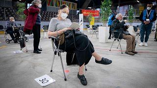 مركز تطعيم ضد كوفيد-19 في برلين، ألمانيا، الخميس 14 يناير 2021