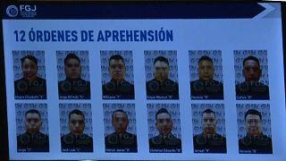 Los doce policías detenidos en México en relación con la matanza