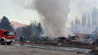Ολοσχερώς κατέρρευσε το ξενοδοχείο «Τσάμης» μετά από έκρηξη που σημειώθηκε τα ξημερώματα της Πέμπτης 04.02.21