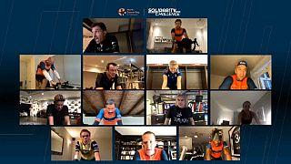 Mo Farah wins virtual sports world cancer solidarity challenge