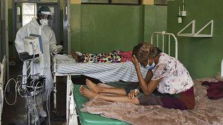 """Dans une pièce du """"Queen Elizabeth Central Hospital"""" à Blantyre (Malawi), le 30/01/2021"""