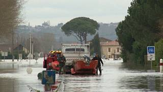 Flooding strands residents in Marmande, southwestern France