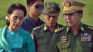 آنگ سان سوچی رهبر بازداشت شده میانمار