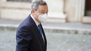 Il presidente del Consiglio incaricato, Mario Draghi