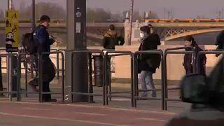 Budapest, Margit-híd, 2021. január