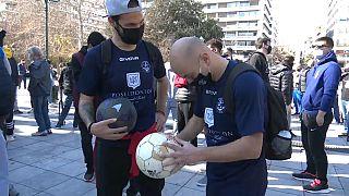 Griechische Sportler protestieren gegen Corona-Auflagen