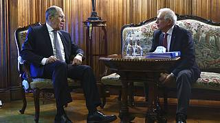 Foto de la reunión entre Lavrov y Borrell distribuida por el Ministerio de Exteriores de Rusia.
