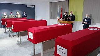 Tunisia pays tribute to soldiers killed by mine