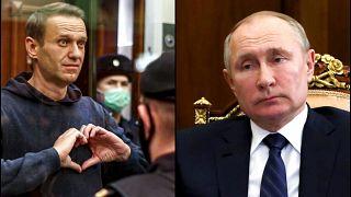 Aleksey Navalny (solda), Rusya Devlet Başkanı Vladimir Putin'in (sağda) en güçlü rakibi olarak görülüyor.