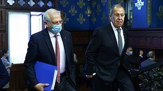 AB Dış İlişkiler Yüksek Temsilcisi Borrell ile Rusya Dışişleri Bakanı Lavrov Moskova'da temaslarda bulundu