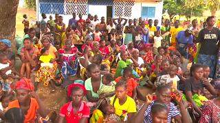 The displaced find refuge in a school as violence escalates in CAR