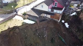 Slope in Germany slides down forcing evacuation