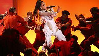 Rosalía actuando en la 62 ceremonia de los Grammy Awards - 27 de enero 2020