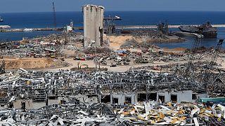 مشهد لانفجار مرفأ بيروت. 2020/08/19