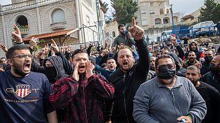 فلسطينيو الداخل يتظاهرون في أم الفحم احتجاجا على تصاعد حدة العنف. 2021/02/05