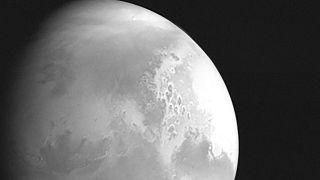 Çin'in Tienvın-1 uydusunun Mars görüntüsü