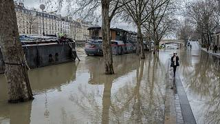 Flood waters recede in southern France but remain high in Paris