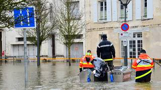 Überschwemmung in Saintes