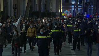 Протест против карантинных мер в Грузии