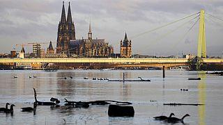 Blick auf Köln Anfang Februar 2021