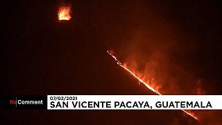 شاهد: غواتيمالا في حالة تأهب استعدادا لثوران بركان باكايا