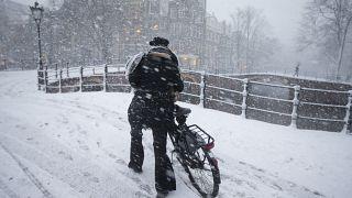 Schnee in den Niederlanden