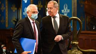 Sergei Lavrov, Russian Foreign Minister and Josep Borrell Fontelles.