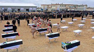 Öldürülen yaklaşık 100 Yezidi törenle yeniden toprağa verildi