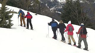 Esqui de fundo está na moda em França