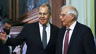 Un momento de la visita. Foto distribuida por el Ministerio ruso de Exteriores