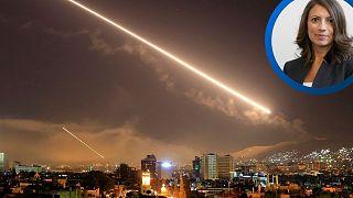 پدافند موشکی سوریه در هنگام حمله اسرائيل در ماه مه ۲۰۱۸