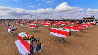 بقایای قربانیان ایزدی داعش پس از شش سال در مراسمی به خاک سپرده شد
