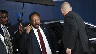 رئيس الوزراء السوداني عبد الله حمدوك في بروكسل. 2019/11/11