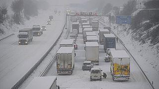 Autobahn bei Dresden am 8. Februar 2021