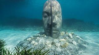 There are six monumental three dimensional portraits, each over two metres in height.@jasondecairestaylorwww.underwatersculpture.com