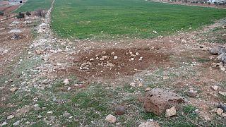 toprağa saplı halde bulunan metal blok kaldırıldı