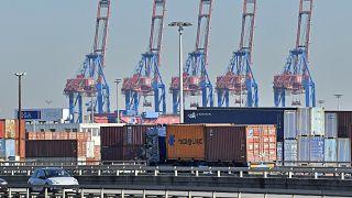 Der Hamburger Hafen, wichtiger Ausgangspunkt für deutsche Exporte.