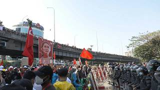 Myanmar protests continue with police repression