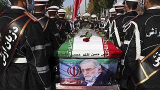 Στιγμιότυπο από την κηδεία του Ιρανού επιστήμονα, Μ. Φακριζαντέχ