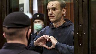 Алексей Навальный во время оглашения приговора - 2 феварля 2021 г.