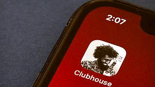 The icon for the social media app Clubhouse is seen on a smartphone screen in Beijing, Tuesday, Feb. 9, 2021.