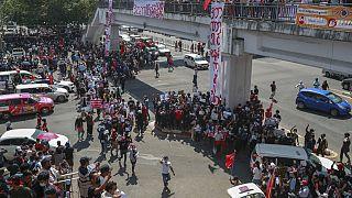 Διαδήλωση στη Γιανγκόν