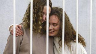 Катерина Андреева и Дарья Чульцова во время судебного заседания