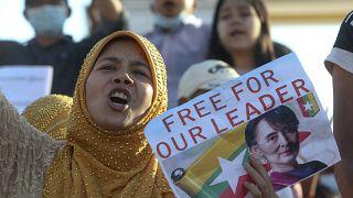 Proteste in Myanmar - USA kündigen Sanktionen gegen Putschisten an