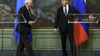 Встреча Борреля и Лаврова в Москве.