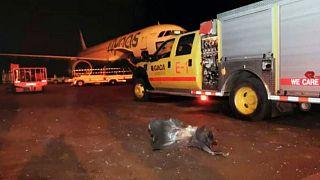 تصویر آرشیوی از  حمله سال ۲۰۱۹ حوثیها به فرودگاه ابها